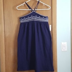 Old Navy Navy Embroidered Summer Dress XL 14 NWT